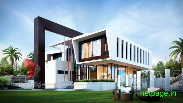 Remarkable 3D Bungalow Elevation Designing From One Of The Top Companies 3D Power.