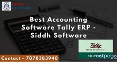 Best Accounting Software Tally ERP - Siddh Software