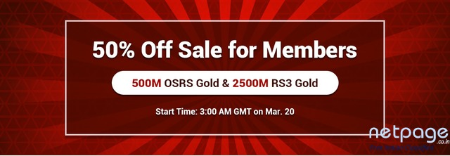 Become RSorder Members to Gain 500M 50% Off Runescape 2007 Gold on Mar.20