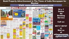 Times of India Mumbai Property Ad Booking Online