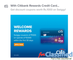 Apply for Citibank Credit card online Instant approval