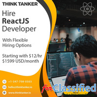 Hire ReactJS Developers Dubai, Qatar, Kuwait, Saudi Arabia - ThinkTanker