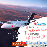 Use Supreme Life Support Air Ambulance Service in Delhi by Medivic
