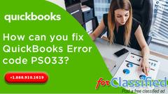 Encountered Quickbooks PS033 error?